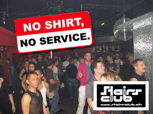 Stairs-Club: Ohne T-Shirt verboten!