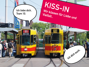 Kiss-In im Basler Tram